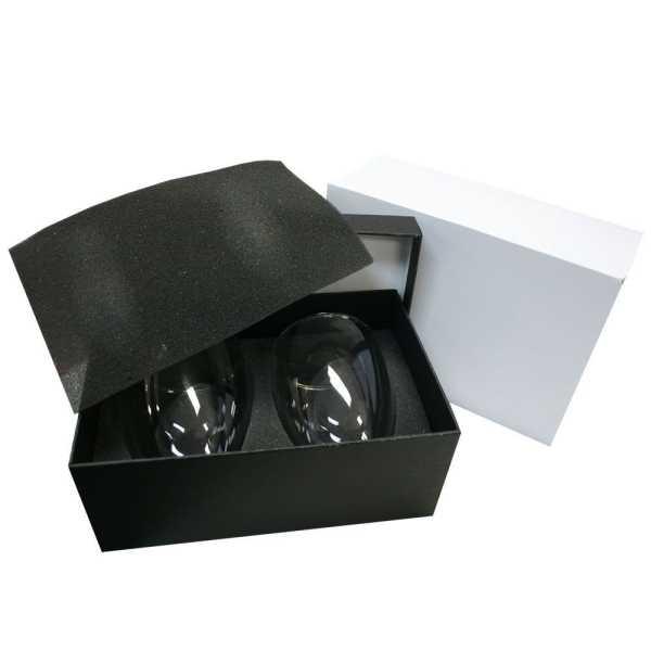 Glass Coffee Tea Set 1414CL In Black Gift Box