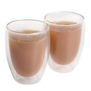 Glass Coffee Tea Set 1414CL Set of Two