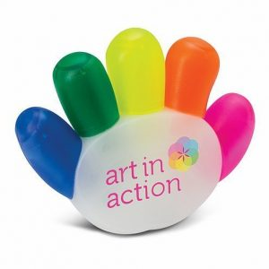 Handy Highlighter CA111941 Five Colours Hand Shaped