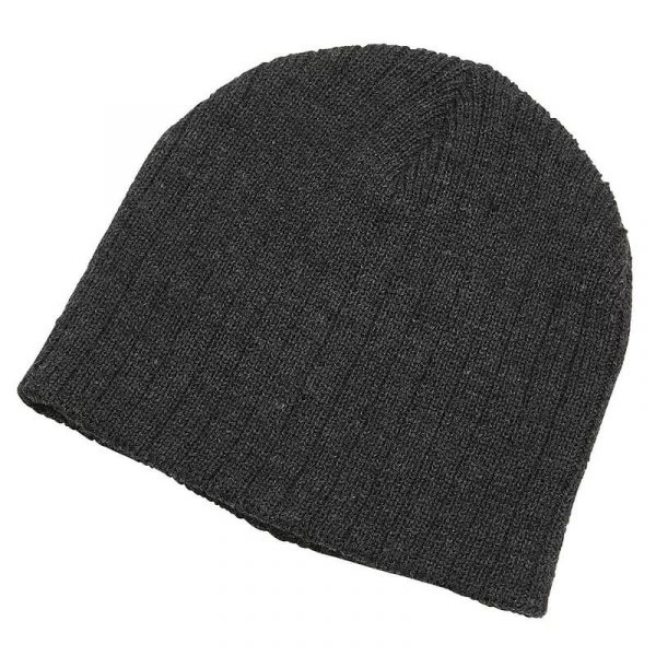 Heather Cable Knit Beanie 4455 Charcoal