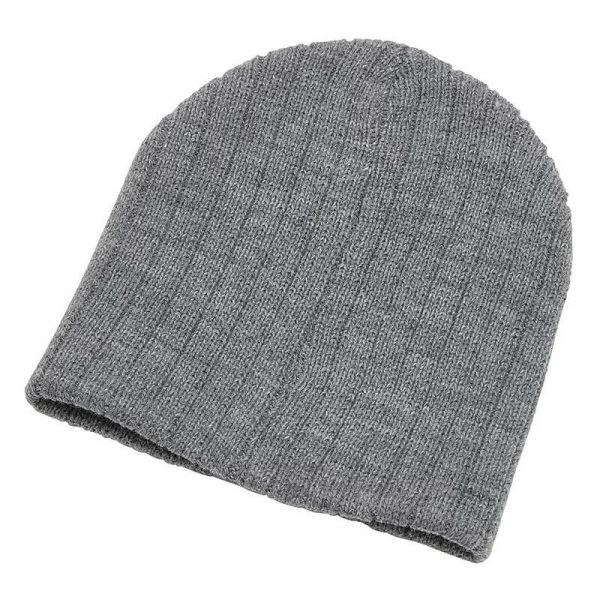 Heather Cable Knit Beanie 4455 Grey
