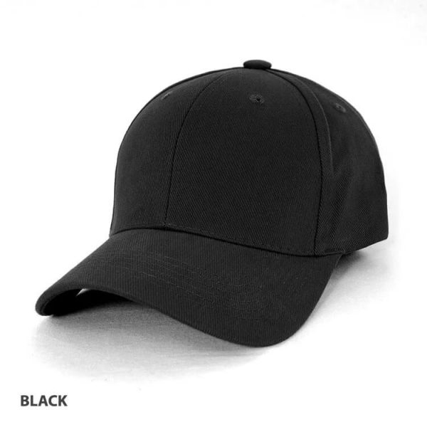 Heavy Brushed Cotton Cap AH230 Black