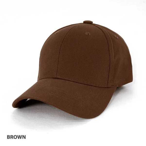 Heavy Brushed Cotton Cap AH230 Brown