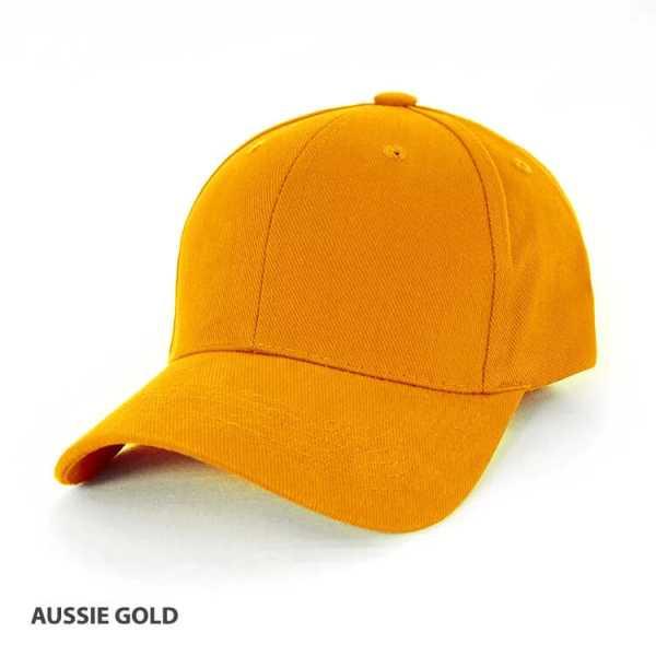 Heavy Brushed Cotton Cap AH230 Golden Yellow