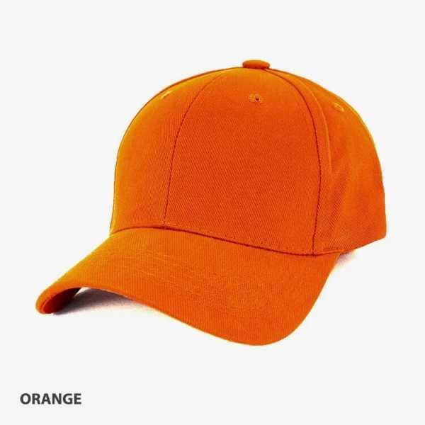 Heavy Brushed Cotton Cap AH230 Orange