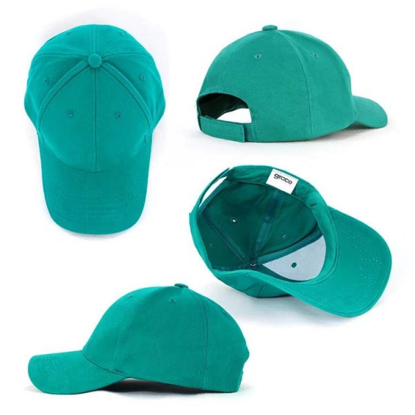 Heavy Brushed Cotton Cap AH230 Teal All