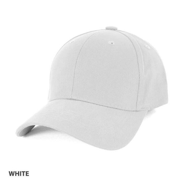 Heavy Brushed Cotton Cap AH230 White
