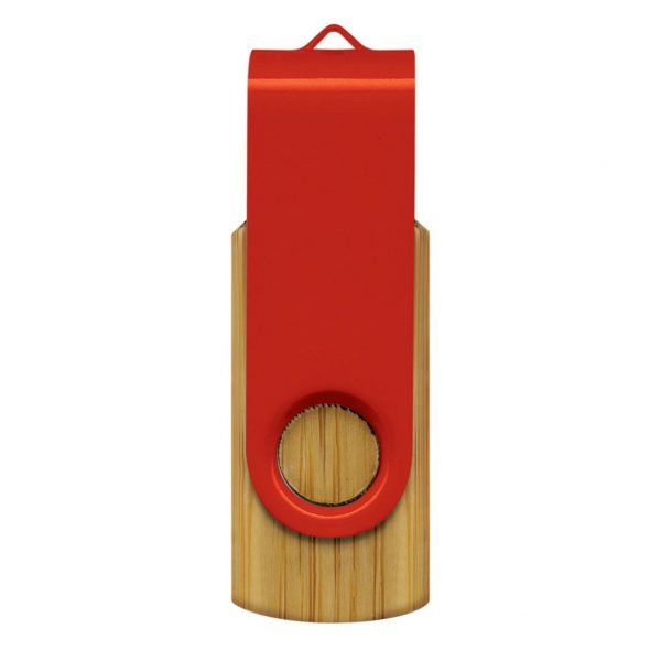 Helix 4GB Bamboo USB Flash Drive CA117042 Red