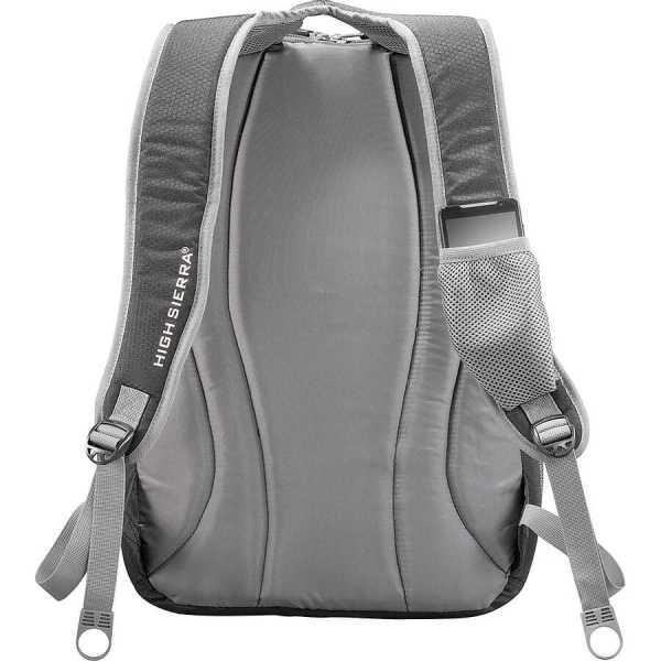 High Sierra Overtime Fly By 17 inch Computer Backpack HS1004BK Black Back