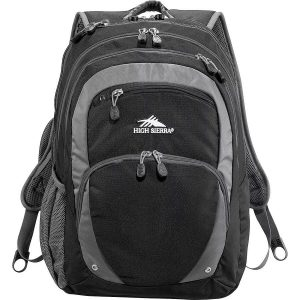 High Sierra Overtime Fly By 17 inch Computer Backpack HS1004BK Black Front