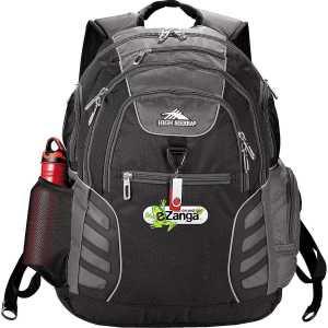 High Sierra Swerve Big Wig 17 in Computer Backpack HS1002BK Black Front