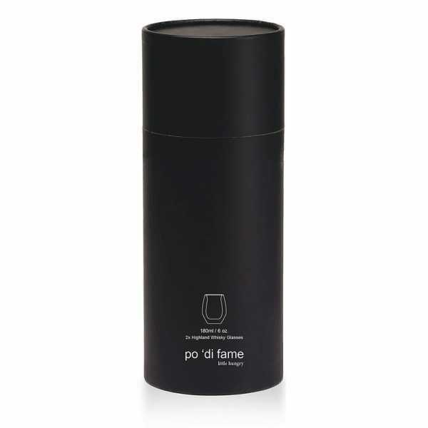 Highland Whisky Glass Set POHWGS Black Gift Tube