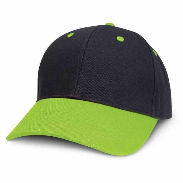 Highlander Cap 115714 Black Lime Green