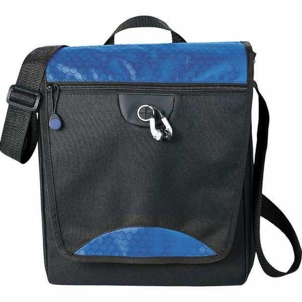 Hive Tablet Messenger Conference Satchel Bag 5053BL Black Blue