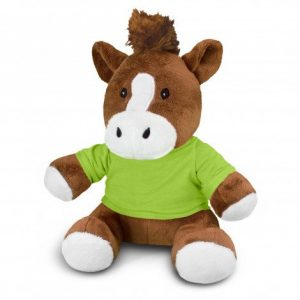 Horse Plush Toy CA117870 Lime Green