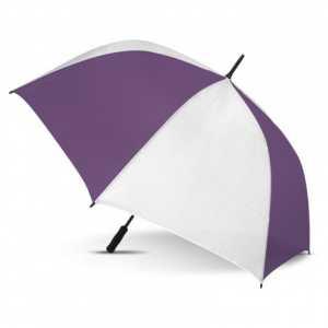 Hydra Sports Umbrella CA107909 White Purple Open Side View