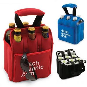 Insulated Beer Carrier Water Bottle Holder CAOC30X315 Black Red Blue
