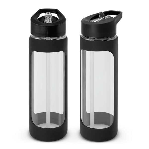 Jupiter Glass Water Drink Bottle 115873 Black