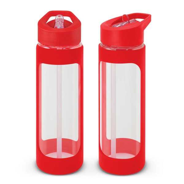 Jupiter Glass Water Drink Bottle 115873 Red