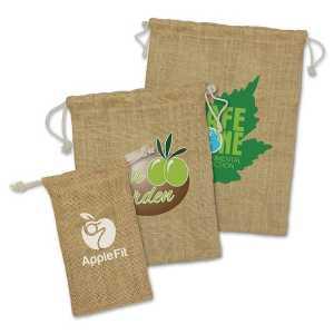 Jute Gift Bag CACA109069 Natural Branded