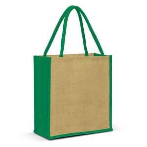 Jute Tote Bag 108036 Natural Green