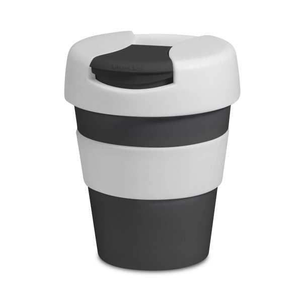 Karma Kup Plastic with Flip Lid 320ml G1960 Black White