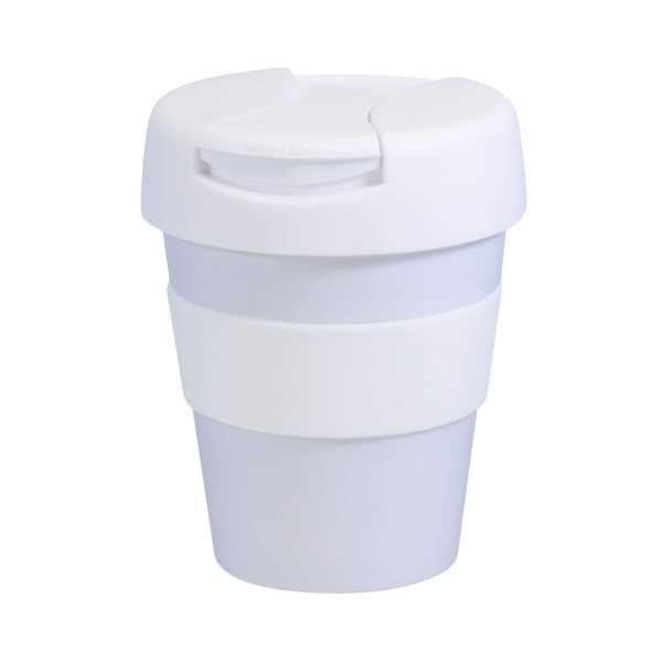 Karma Kup Plastic with Flip Lid 320ml G1960 White White