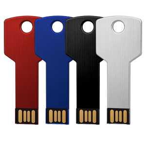 Key USB Flash Drive USB8011 4GBK Red Blue Black White