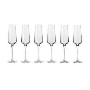 Krosno Avant Garde Champagne Flute 180ML 6 Piece Gift Boxed KR0252
