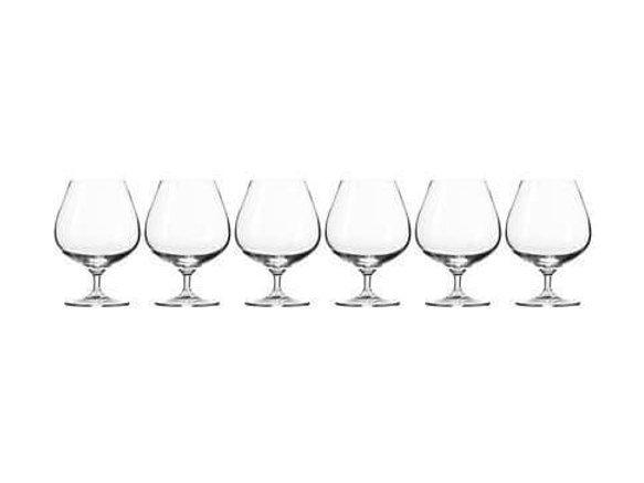 Krosno Harmony Cognac Glass 550ML 6 Piece Gift Boxed KR0264