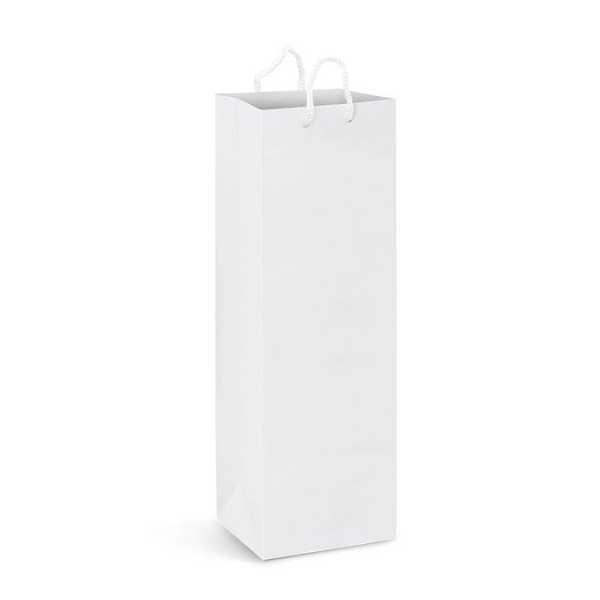 Laminated Paper Wine Bag Full Colour 116940 White