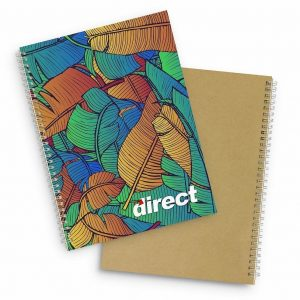 Lancia Full Colour Notebook Large 118177 Natural with Full Colour Branding