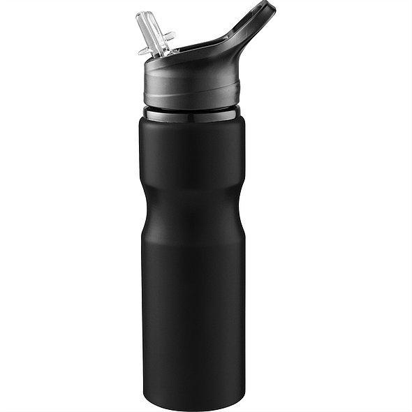 Loki Aluminium Sports Bottle 4092 Black