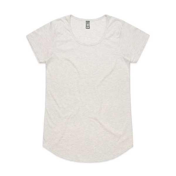 Mali T Shirts Womans 4008 Marle White