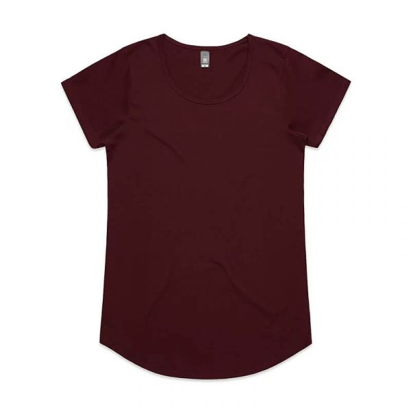 Mali T Shirts Womans 4008 Maroon