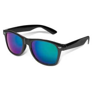 Malibu Premium Sunglasses Mirror Lens CA109783 Black with Green Lens