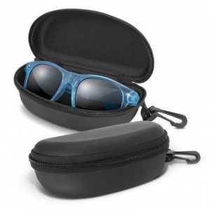 Malibu Premium Sunglasses Translucent CA109784 Blue in Black Case