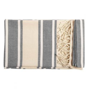 Manly Towel CAM6427 Grey White