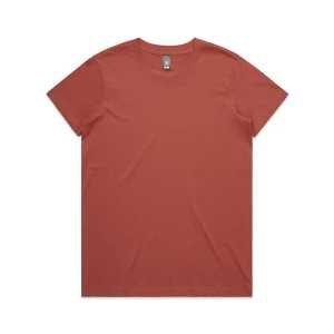 Maple T Shirts Womans 4001 Brick