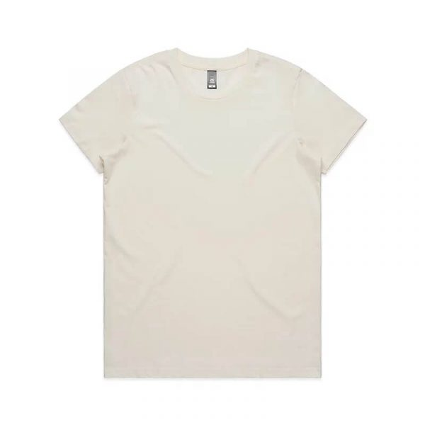 Maple T Shirts Womans 4001 Cream