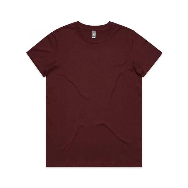 Maple T Shirts Womans 4001 Maroon