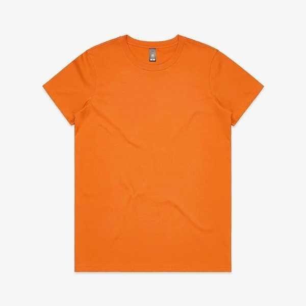 Maple T Shirts Womans 4001 Orange