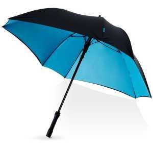 Marksman 23 Inch Square Automatic Umbrella CAMM1018 Black Blue Underneath Side View 1
