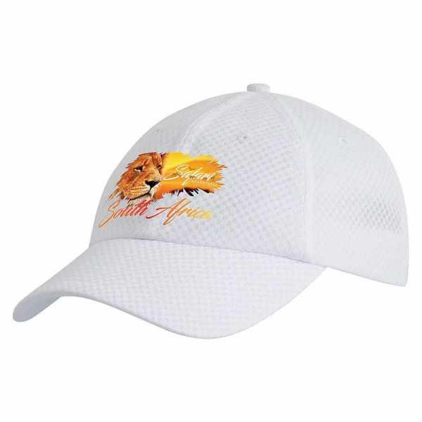 Mesh Sports Cap S4058 White