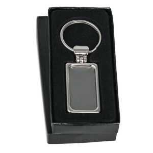 Metal Key Ring CA1269SL Silver in Black Gift Box