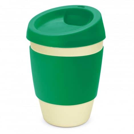 Metro Bamboo Cup Logo Promotional Reusable Coffee Cup 116266 Green