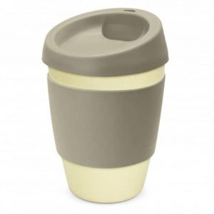 Metro Bamboo Cup Logo Promotional Reusable Coffee Cup 116266 Grey