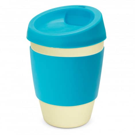 Metro Bamboo Cup Logo Promotional Reusable Coffee Cup 116266 Light Blue