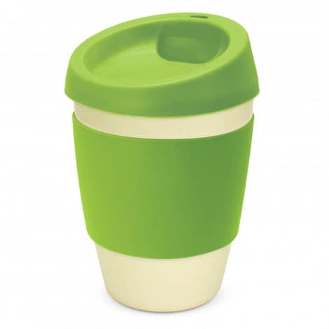 Metro Bamboo Cup Logo Promotional Reusable Coffee Cup 116266 Lime Green