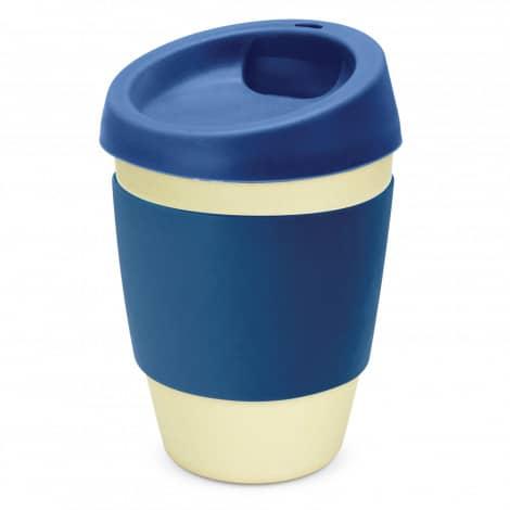 Metro Bamboo Cup Logo Promotional Reusable Coffee Cup 116266 Navy